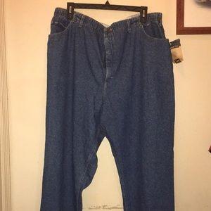 Brand new, elastic waist jeans
